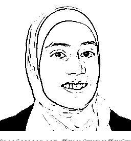 Cartoon Protrait Naima Niazy