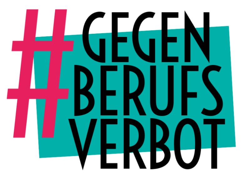 Logo Bündnis #gegenBerufsverbot