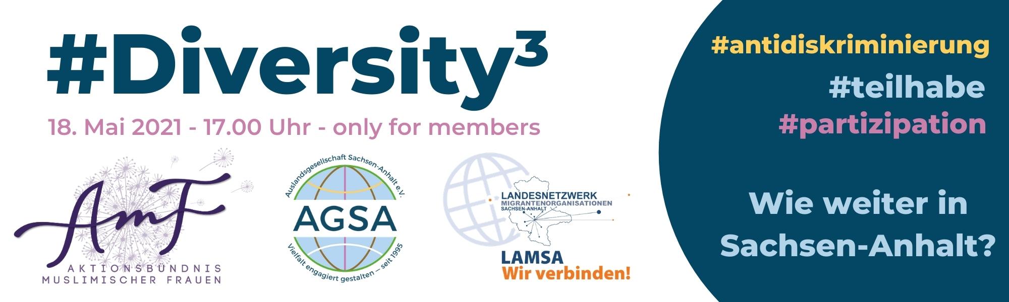#Diversity³ #antidiskriminierung #teilhabe #partizipation – Wie weiter in Sachsen-Anhalt?