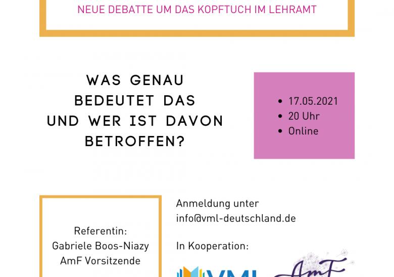 "100 muslimische Frauen diskutieren ""Kopftuchverbot""- Gesetz"