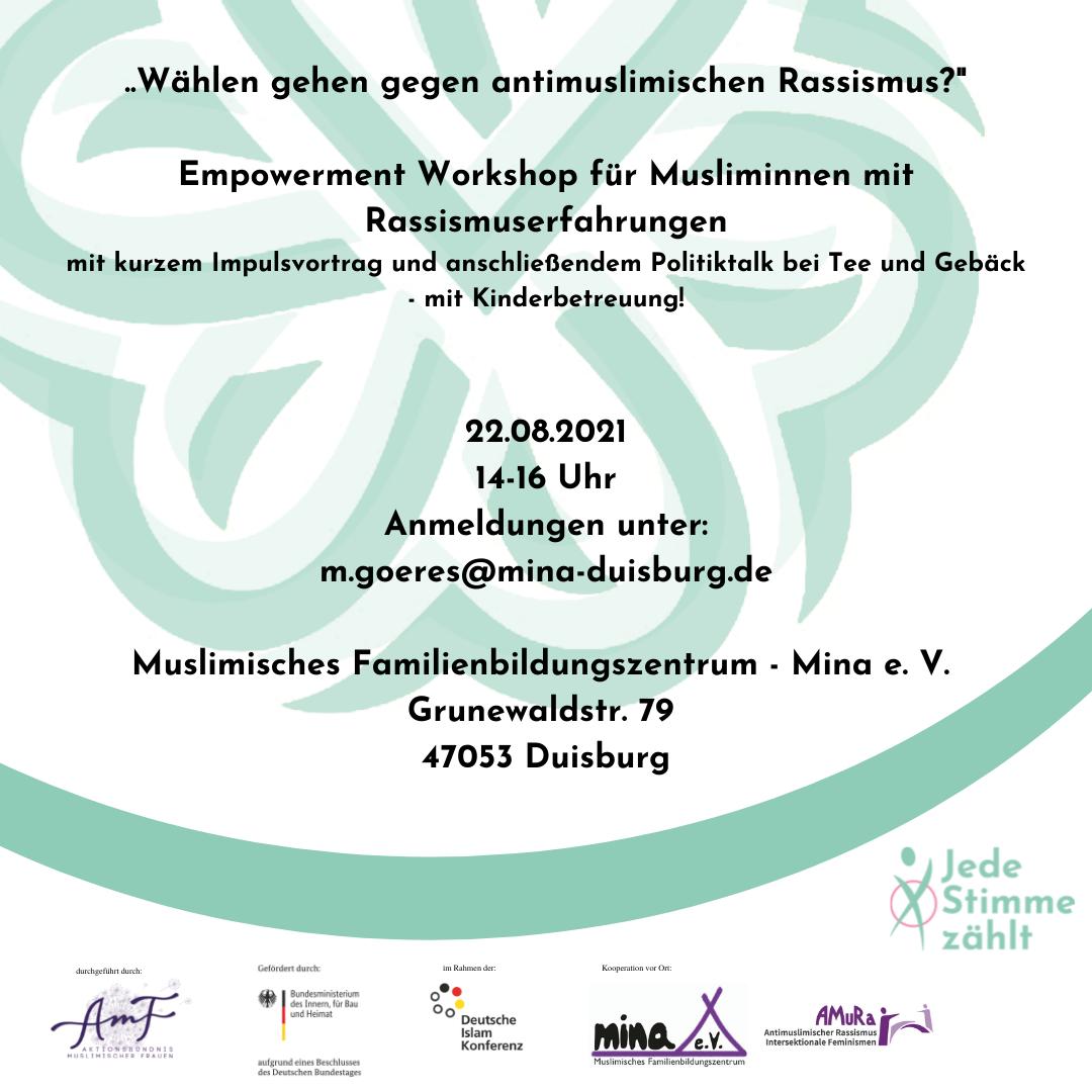 Empowerment Workshop für Musliminnen mit Rassismuserfahrungen
