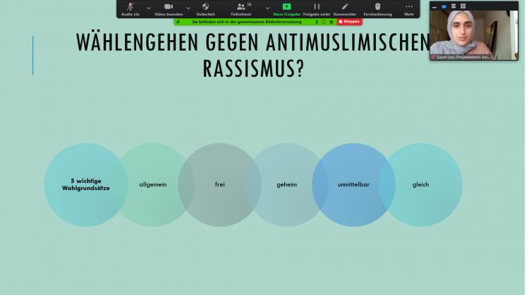 """Online-Workshop """"Wählen gehen gegen antimuslimischen Rassismus"""""""
