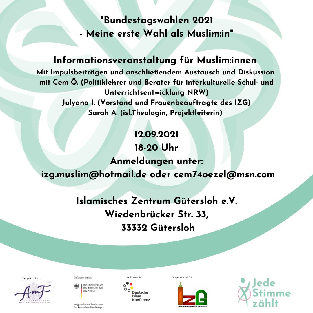 Bundestagswahlen 2021 – meine erste Wahl als Muslim:in