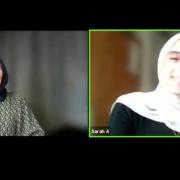 Sceenshot des Talks mit Sarah Athai und Kübra Gümüsay